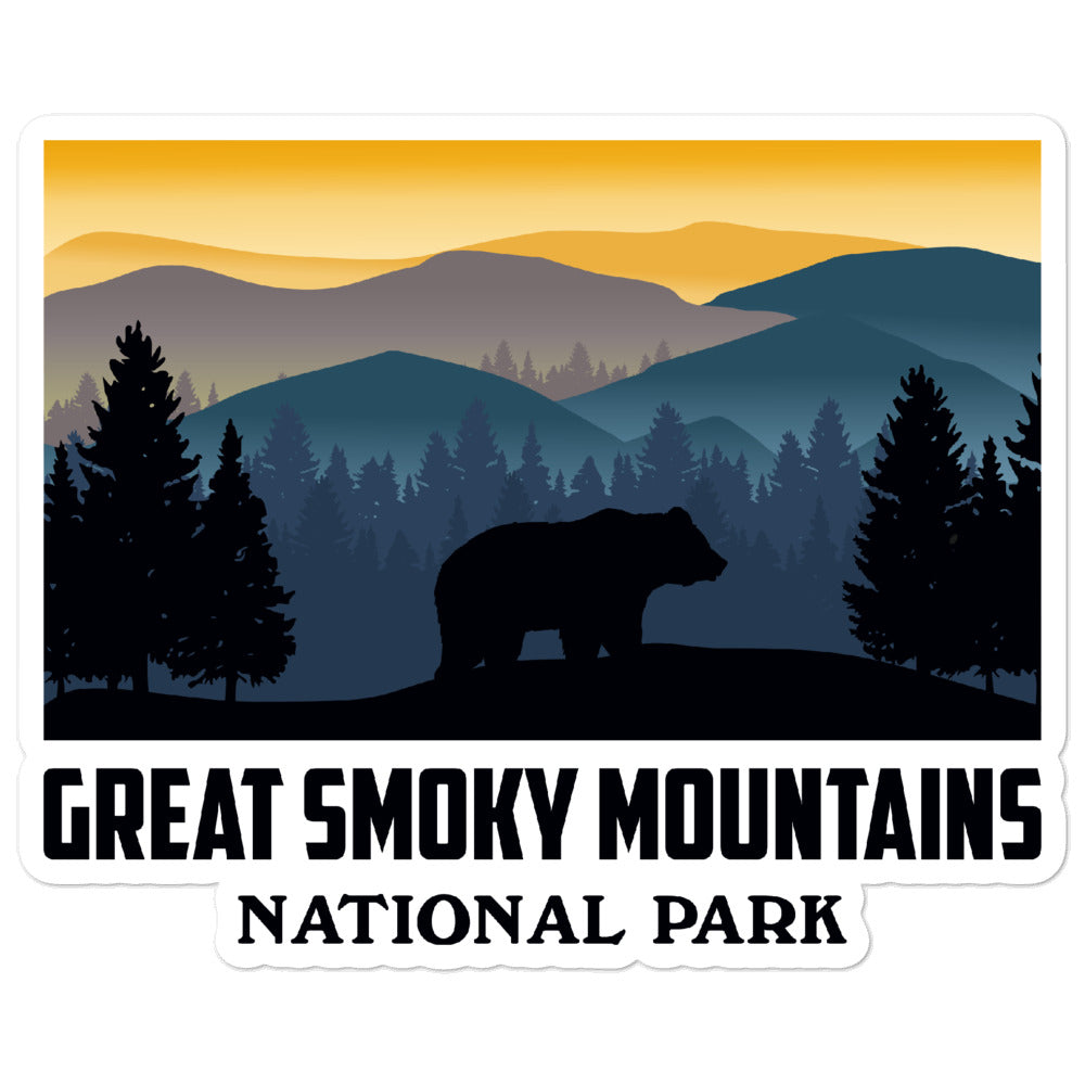 Great Smoky Mountains National Park Vintage Sticker