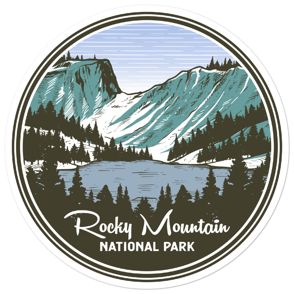 Rocky Mountain National Park Vintage Sticker