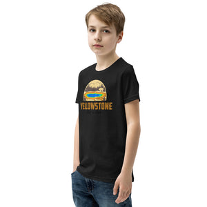 Yellowstone National Park Retro Youth Short Sleeve T-Shirt