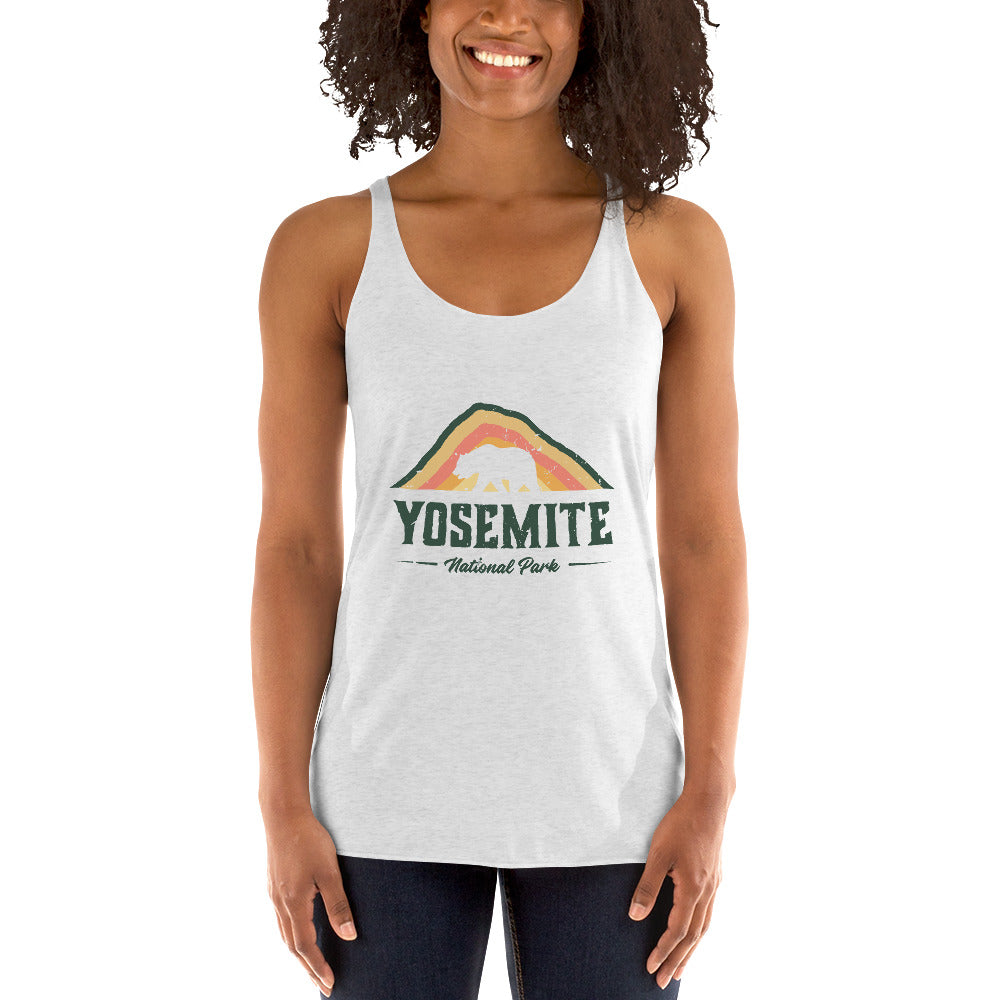 Yosemite National Park Retro Women's Racerback Tank