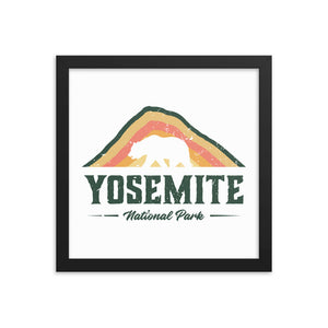 Vintage Yosemite National Park Framed Poster