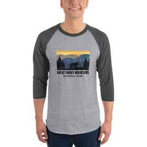 Great Smoky Mountains National Park Retro 3/4 Sleeve Shirt