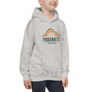 Yosemite National Park Retro Kids Hoodie