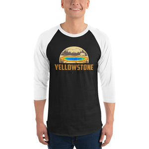 Yellowstone National Park Retro 3/4 Sleeve Shirt