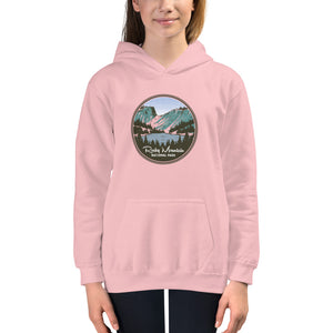 Rocky Mountain National Park Retro Kids Hoodie