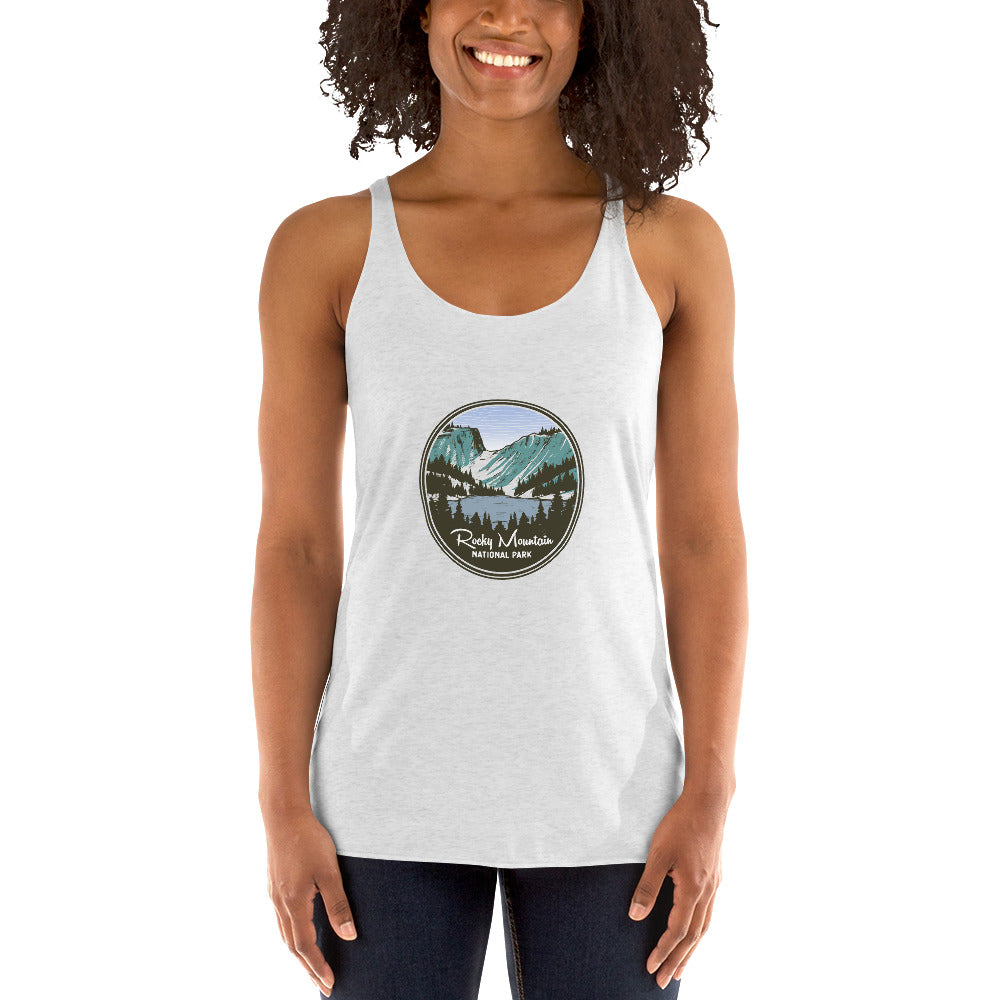 Rocky Mountain National Park Retro Women's Racerback Tank