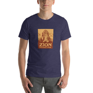 Zion National Park Retro Short-Sleeve Unisex T-Shirt