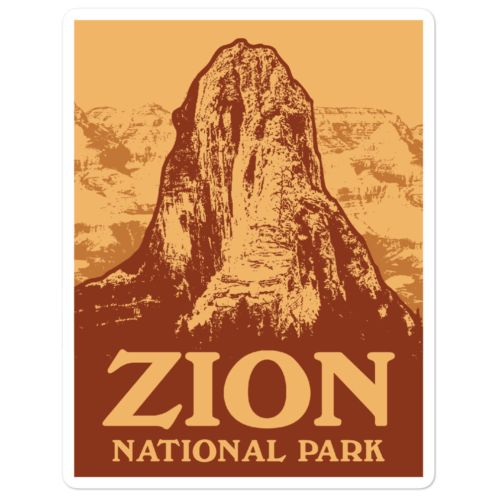 Vintage Zion National Park Sticker