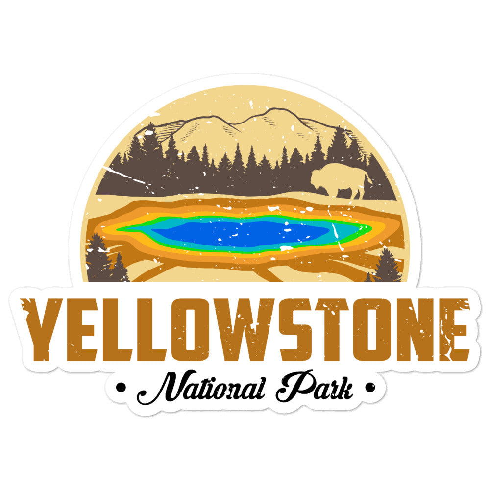 Yellowstone National Park Vintage Sticker