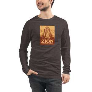 Zion National Park Retro Men's Long Sleeve Tee