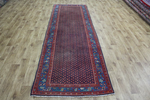Handmade Persian Malayer Runner Boteh Design 314 x 102 cm
