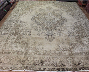 Overdyed Persian Tabriz Carpet 385 x 285 cm