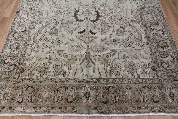 Overdyed Persian Tabriz Carpet 290 x 190 cm