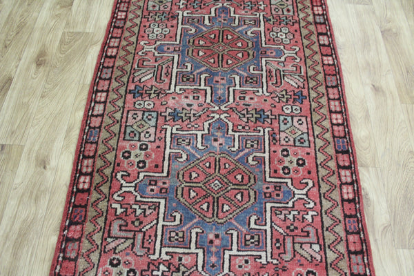 Old Handmade Persian Karajeh Runner Great Condition 317 x 90 cm