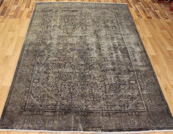 Overdyed Persian Tabriz carpet 280 x 180 cm
