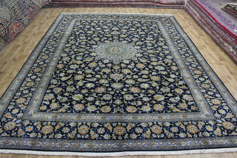 Signed Persian Kashan Carpet 405 x 302 cm