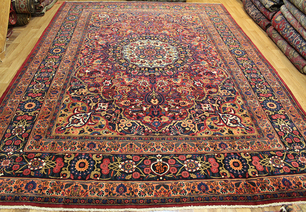Antique Persian Moud Signed carpet 370x260cm