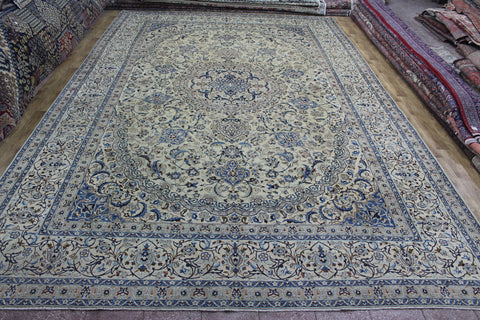 Fine Persian Nain Silk & Wool Carpet 540 x 350 cm