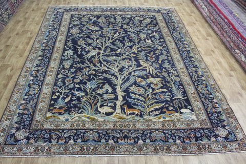Antique Persian Kashan Carpet Tree Of Life Design 360 x 280 cm