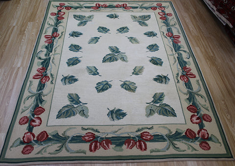 Antique Portuguese Needlepoint Rug Circa 1900