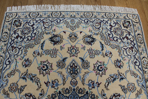 Persian Nain rug silk & wool 130 x 88 cm