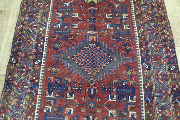 Antique Persian Heriz Runner,Very Hard Wearing 463 x 112 cm