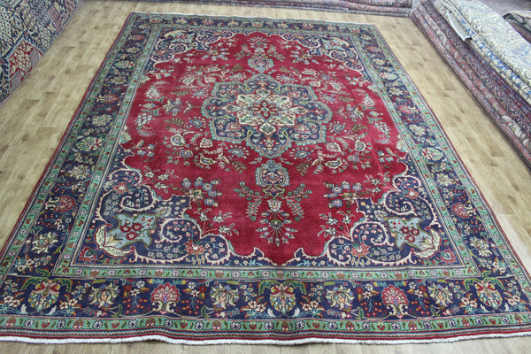 Old Handmade Persian Tabriz Carpet 400 x 295 cm