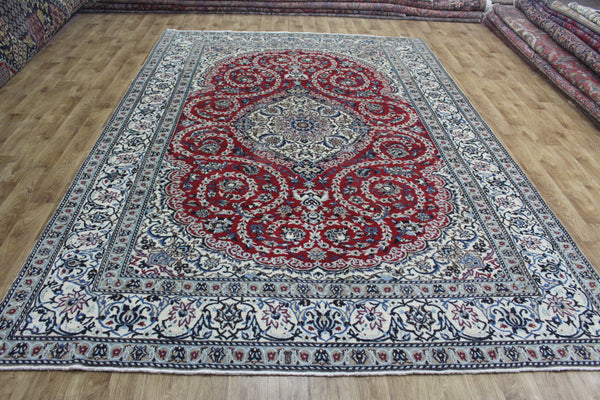 Fine Persian Nain Carpet wool & silk 350 x 236 cm