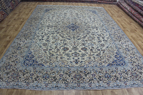 Fine Persian Nain Carpet wool & silk 370 x 260 cm