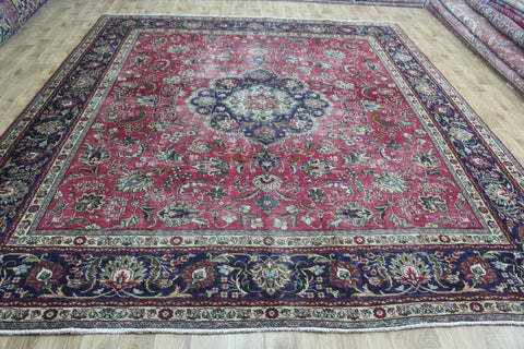 Old Handmade Persian Tabriz Carpet 340 x 295 cm