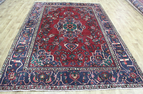 OLD HANDMADE PERSIAN SIRJAN CARPET WITH GREAT DESIGN AND COLOUR 290 X 203 CM