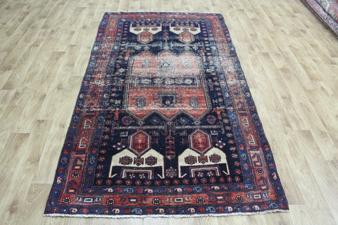 Antique Kurdish Rug Large Medallion Design 245 x 135 cm
