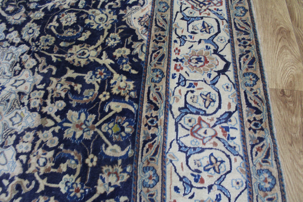 Vintage Persian Nain carpet silk & wool 302 x 195 cm