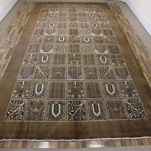 Old Handmade Persian Tabriz Carpet Garden Design 485 x 305 cm