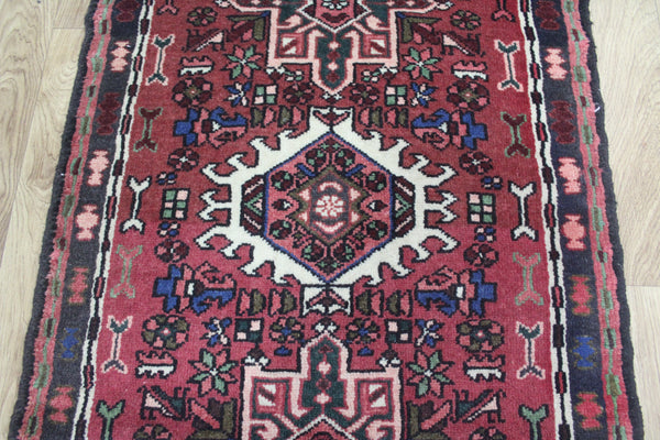 Vintage Persian Karajeh Long Narrow Runner, Superb Colours 285 x 73 cm