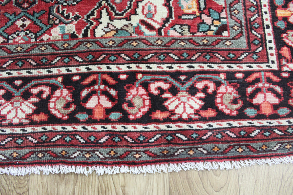 Old Persian Hamadan Rug Herati Design, Hard Wearing 210 x 142 cm