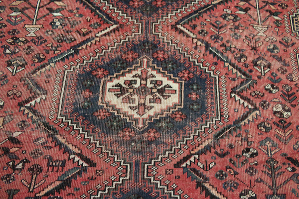 ANTIQUE PERSIAN SHIRAZ QASHQAI RUG 300 X 207 CM