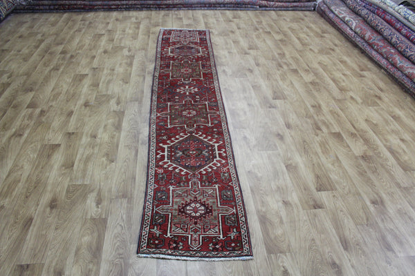 Old Handmade Persian Karajeh Long Narrow Runner 300 x 53 cm