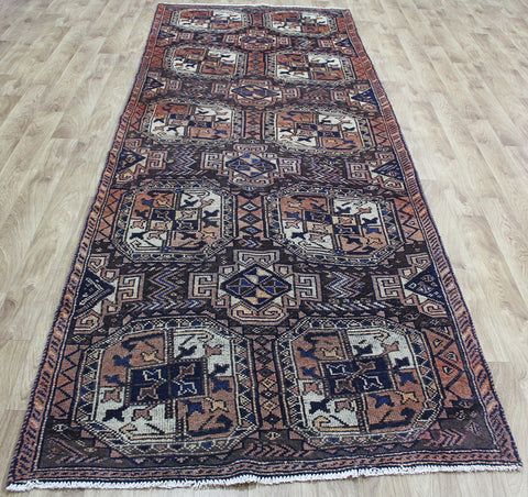 Antique Handmade Persian Baluch Runner 358 x 127 cm