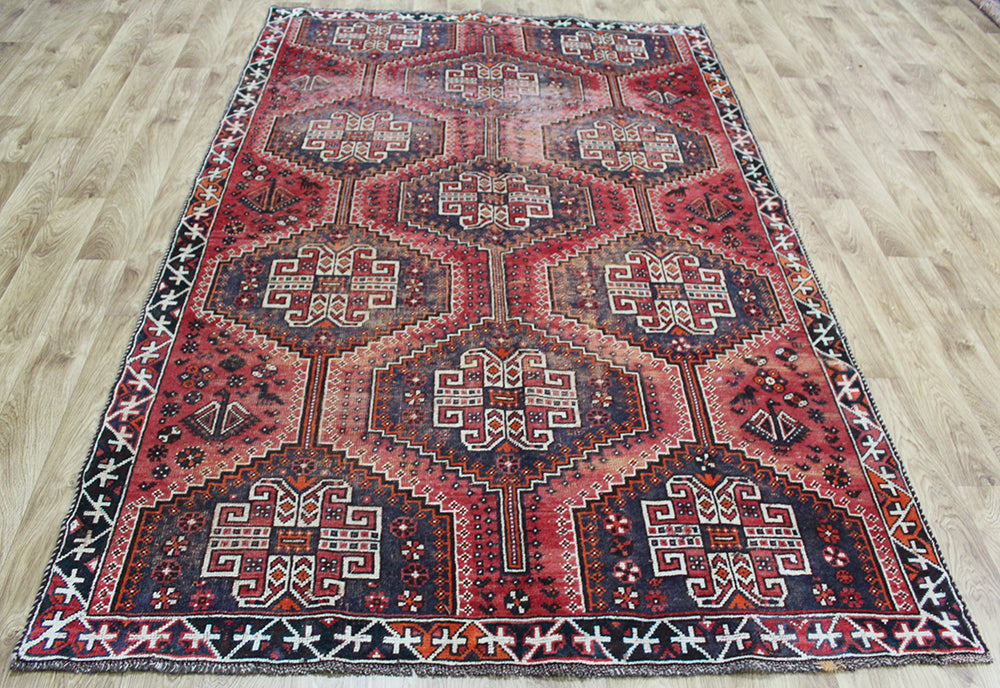 ANTIQUE SOUTH WEST PERSIAN SHIRAZ RUG 248 x 158 cm