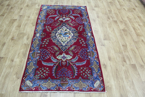 A Beautiful Persian Kashmar Rug Birds Design 187 x 100 cm