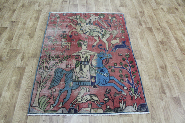 Antique Persian Tabriz Rug 145 x 105 cm