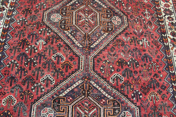 ANTIQUE SOUTH WEST PERSIAN SHIRAZ QASHQAI TRIBAL RUG 205 x 148 CM