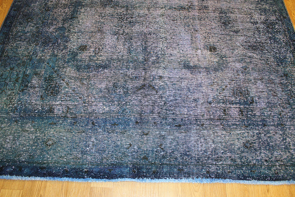 Overdyed Persian Tabriz Carpet 280 x 185 cm