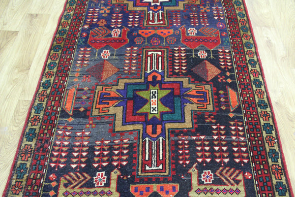 A Beautiful Persian Karajeh Long Runner 335 x 95 cm
