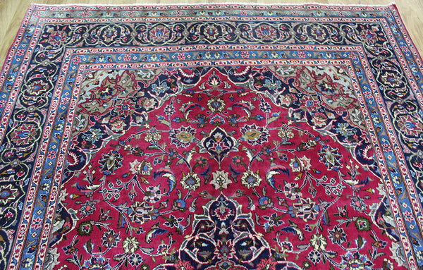Handmade Persian Kashmar carpet with superb colours 285 x 197 cm
