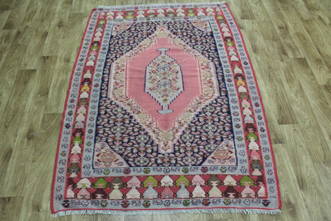 Old Senneh Kilim WIth Medallion Design 170 x 120 cm