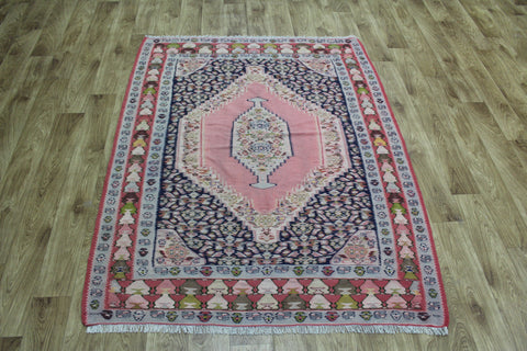 Old Senneh Kilim WIth Medallion Design 160 x 123 cm