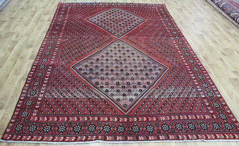 ANTIQUE HANDMADE PERSIAN SIRJAN RUG 295 x 197 CM