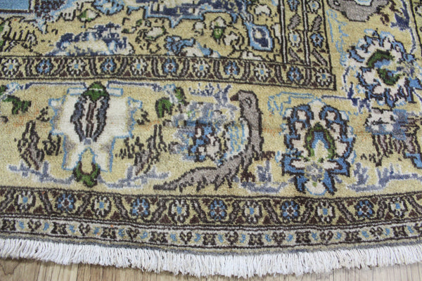 Antique Persian Qum Rug Birds & Floral Design 217 x 145 cm